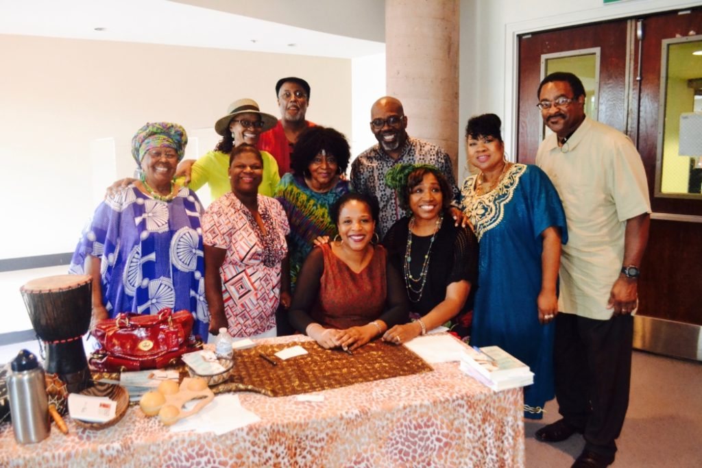 Pictured: Members of the BSSD and author Tayari Jones.